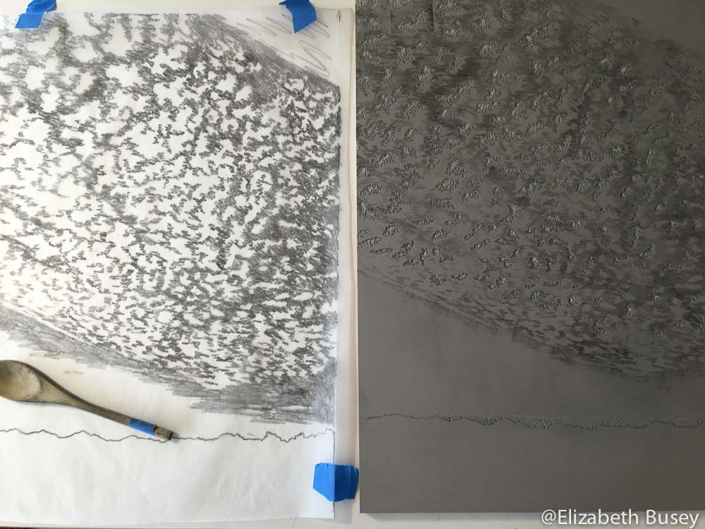 sky graphite two and tracing paper