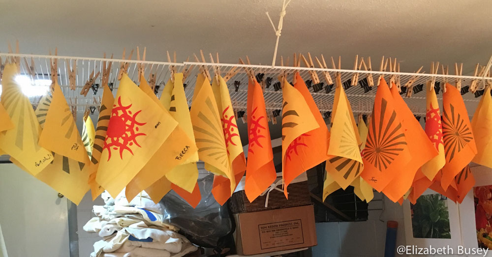 flags drying