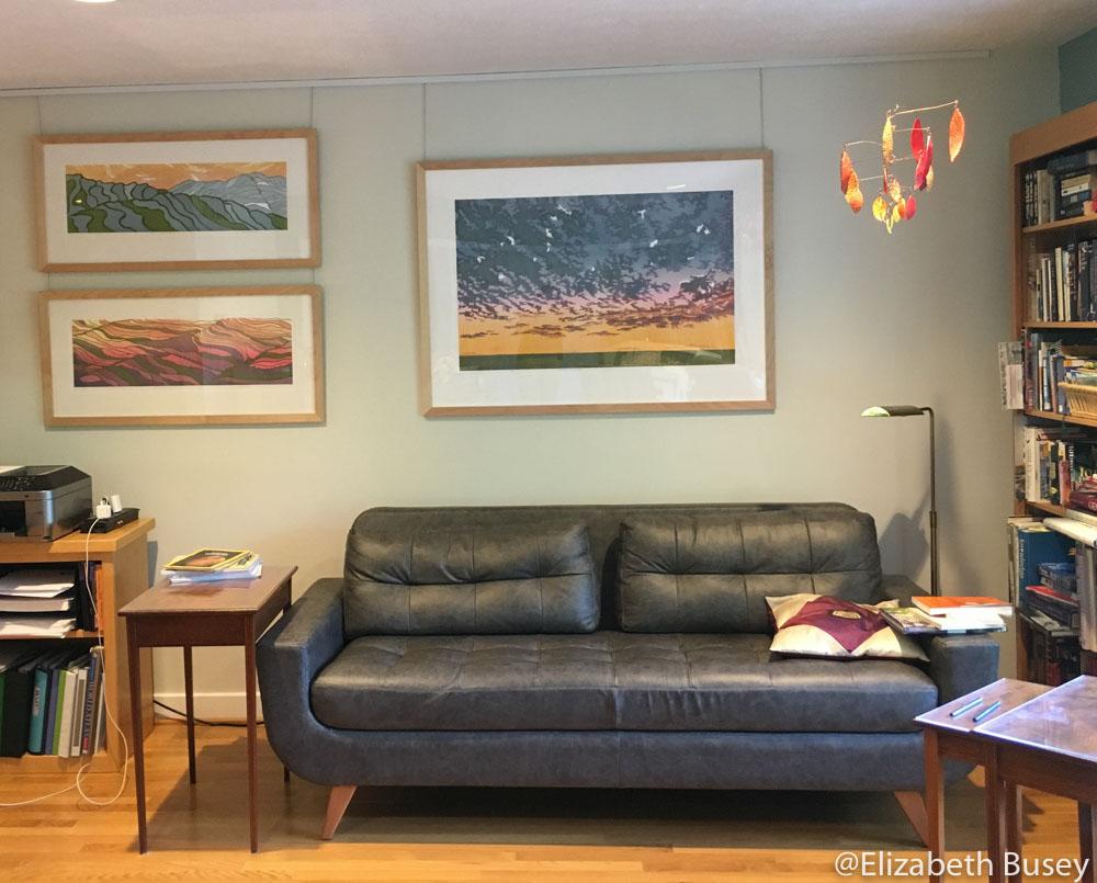 living room artwork hanging system