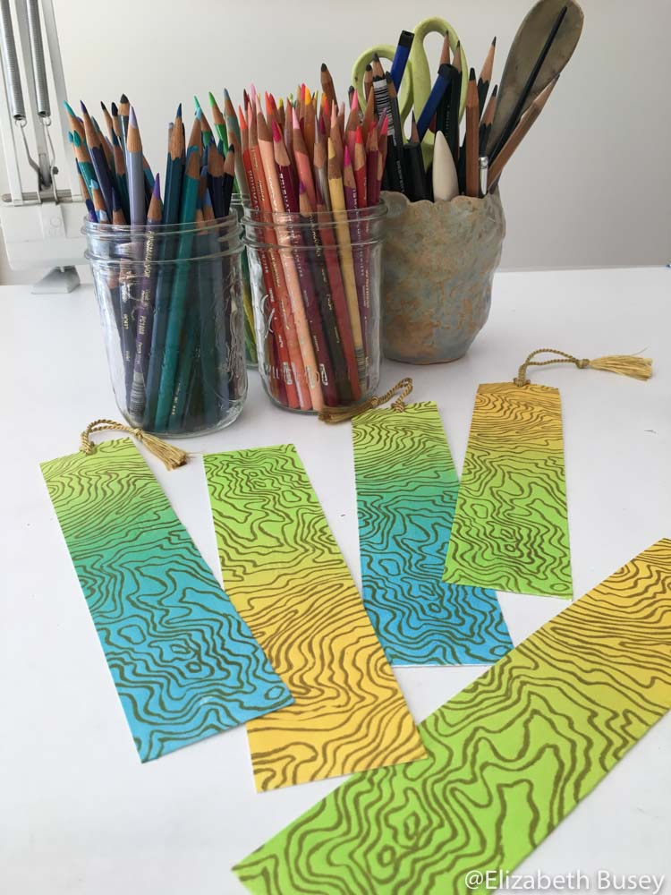 topography inspired bookmarks