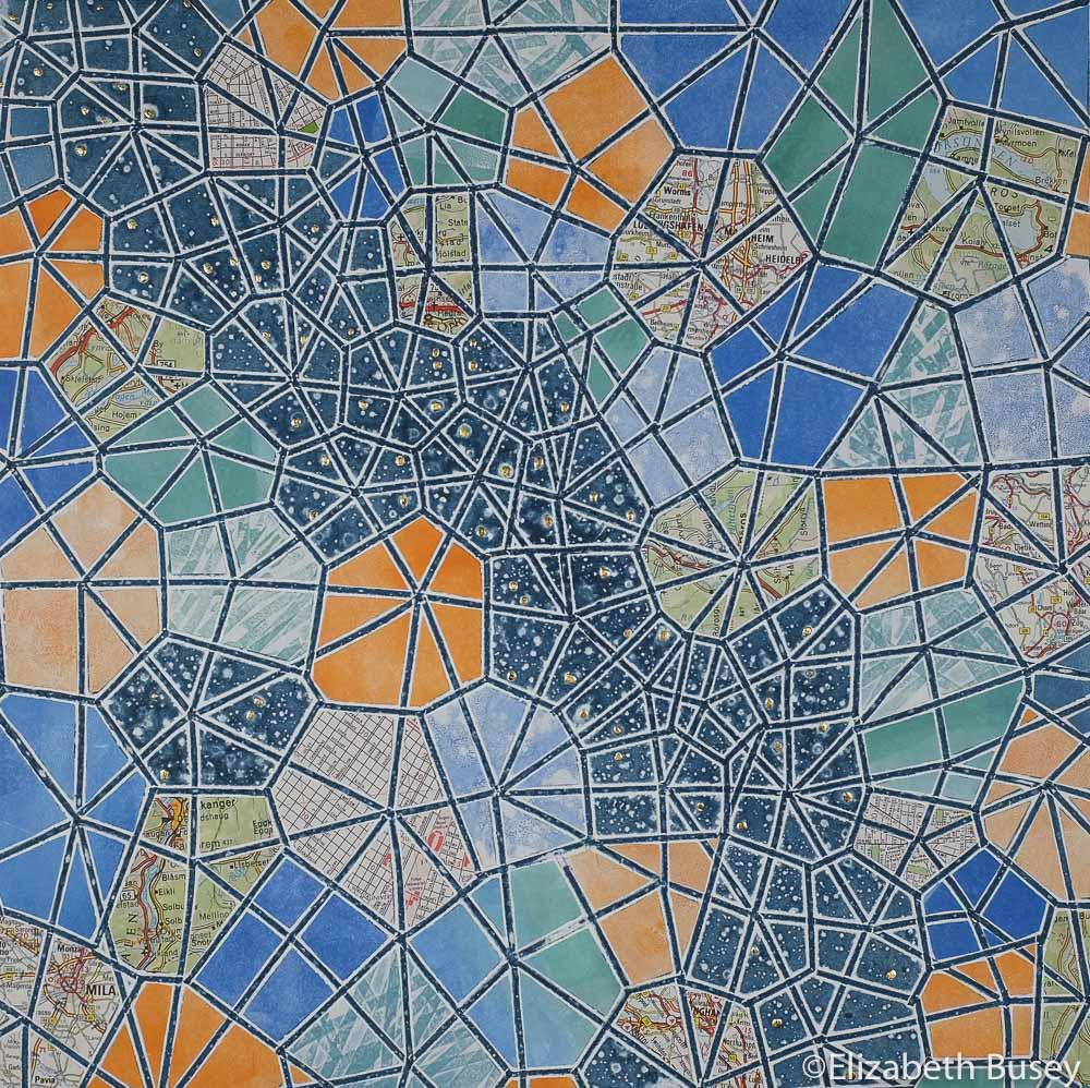 Geometric monoprint
