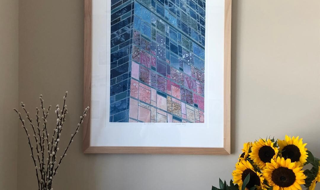 Vertical-monoprint-collage-home-office